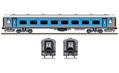 Side and front view of brand new Linke Hofmann Busch passenger coach with wide windows and 102 seats. In operation by Indian Railways from 2018. Reporting mark - CR - मध्य - Central Railway zone. High quality color drawing with all details and technical inscriptions in Hindi and English. EDITORIAL USE