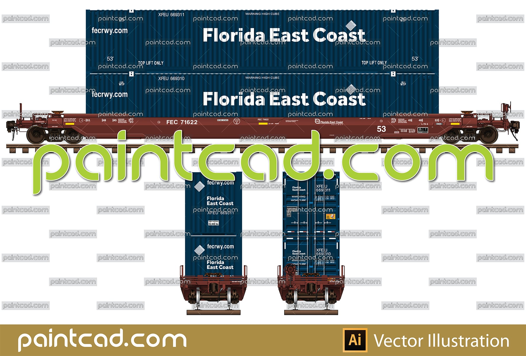 Covered hopper cars in livery of Canadian Pacific Railway - vector illustration