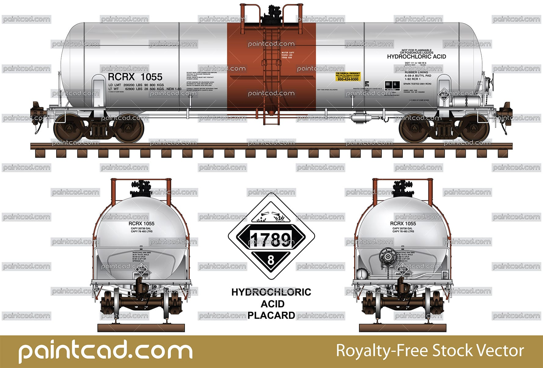 Tank DOT-111 of Reagent Chemical and Research Incorporated - vector illustration