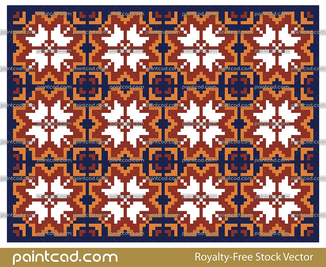 Geometric seamless shapes pattern over dark blue background - vector illustration