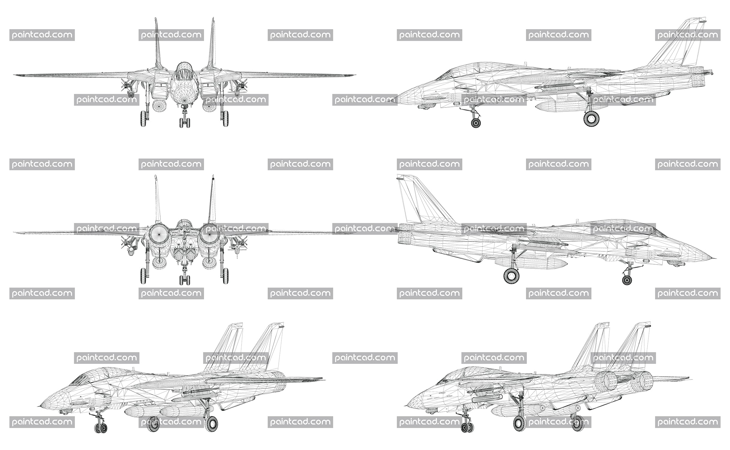 Wireframe design of modern combat fighter aircraft - vector illustration
